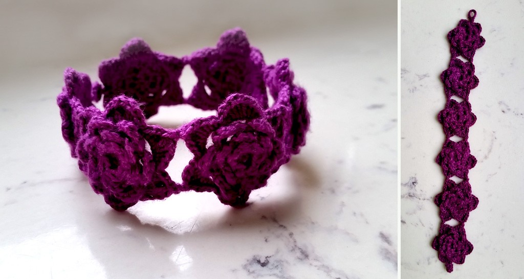 fioletowa bransoletka
