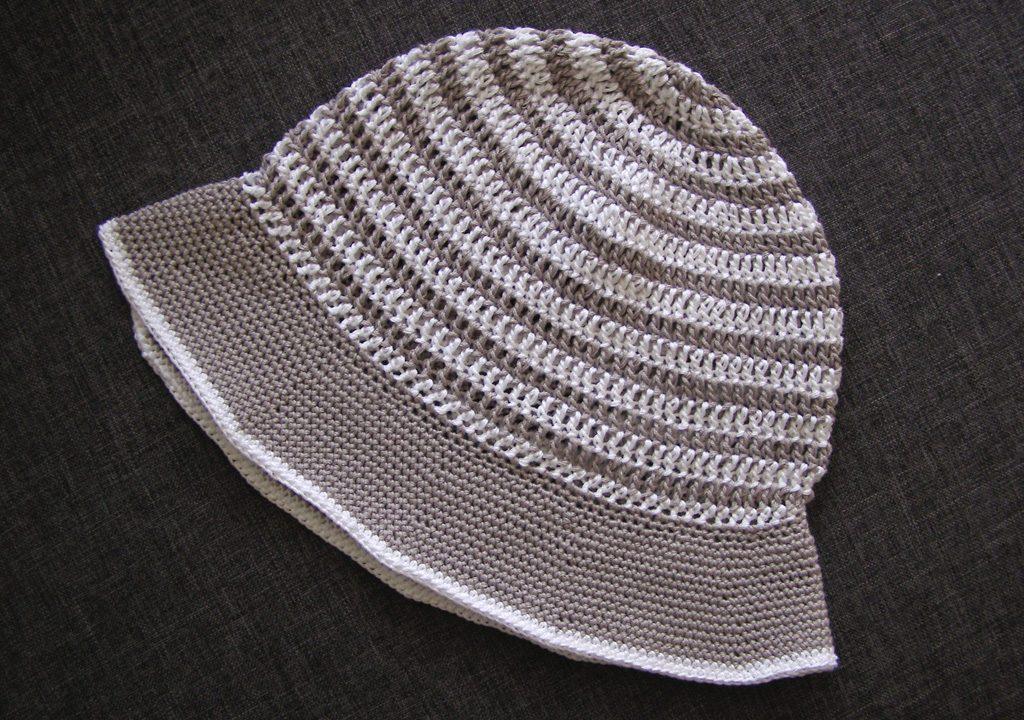 crochet striped sunhat