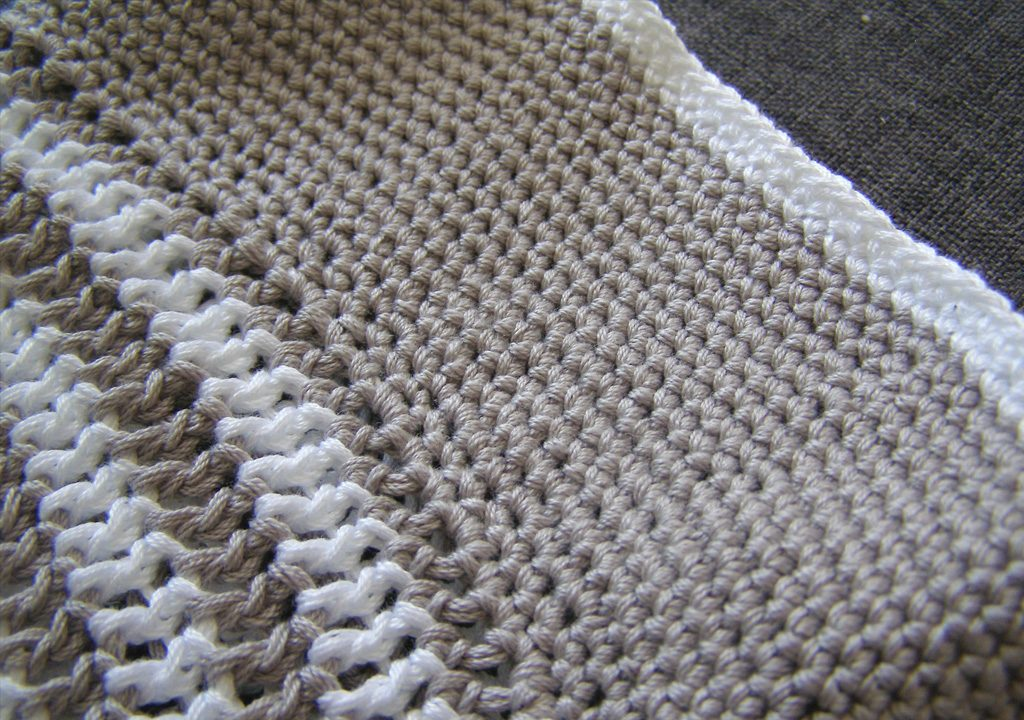 crochet striped sunhat - detail